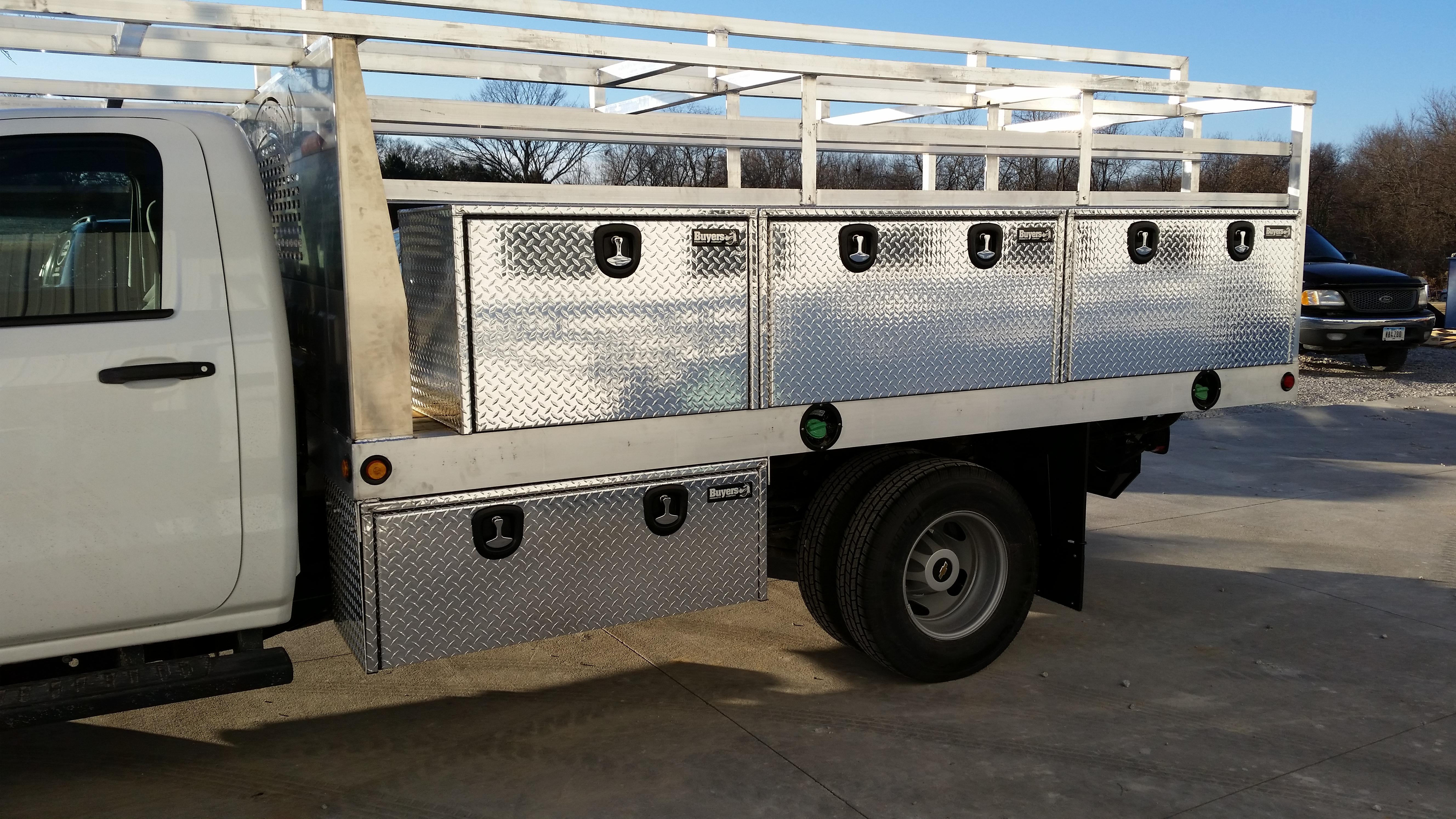 Overhead Door Truck Rack \u2013 Storage Boxes & Trailer \u0026 Truck Beds \u2013 Newport Fab \u0026 Machine