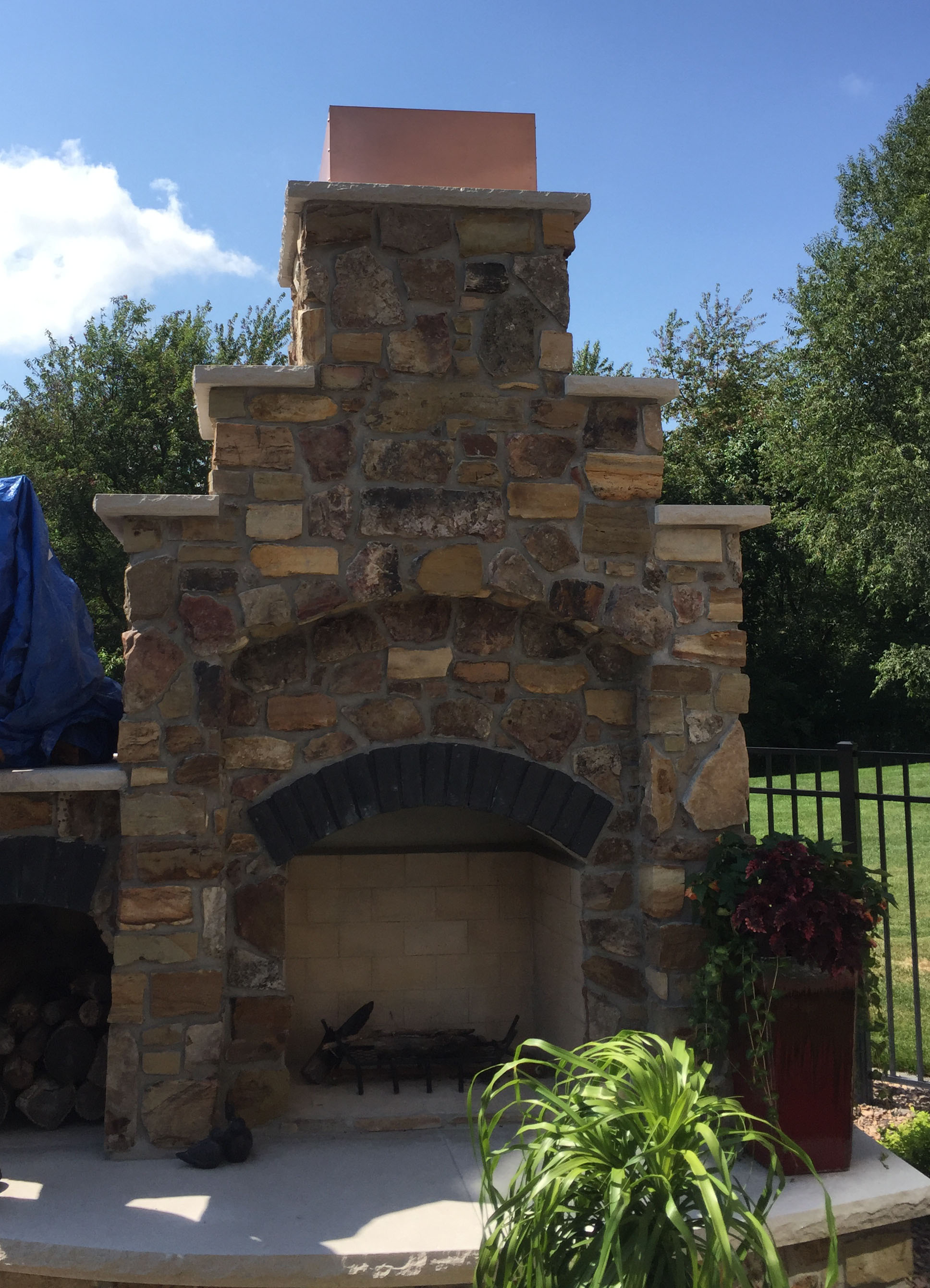 Superbe Copper Chimney Cap For Outdoor Fireplace