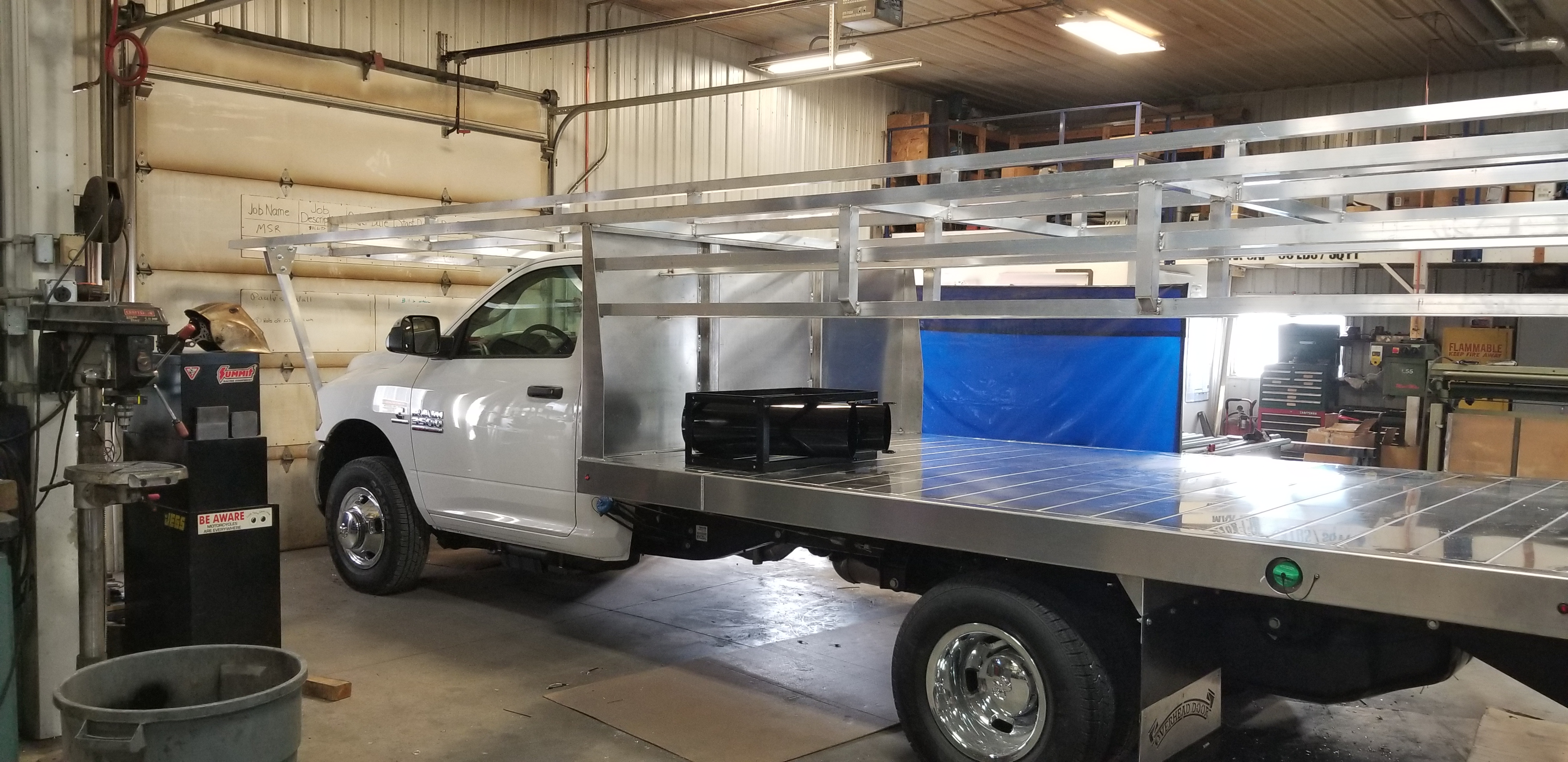 Overhead Door Truck Rack U2013 Mid Process